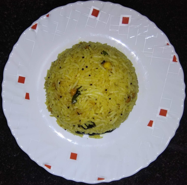 South Indian Tamarind rice.