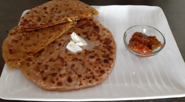 Paneer/cottage cheese paratha