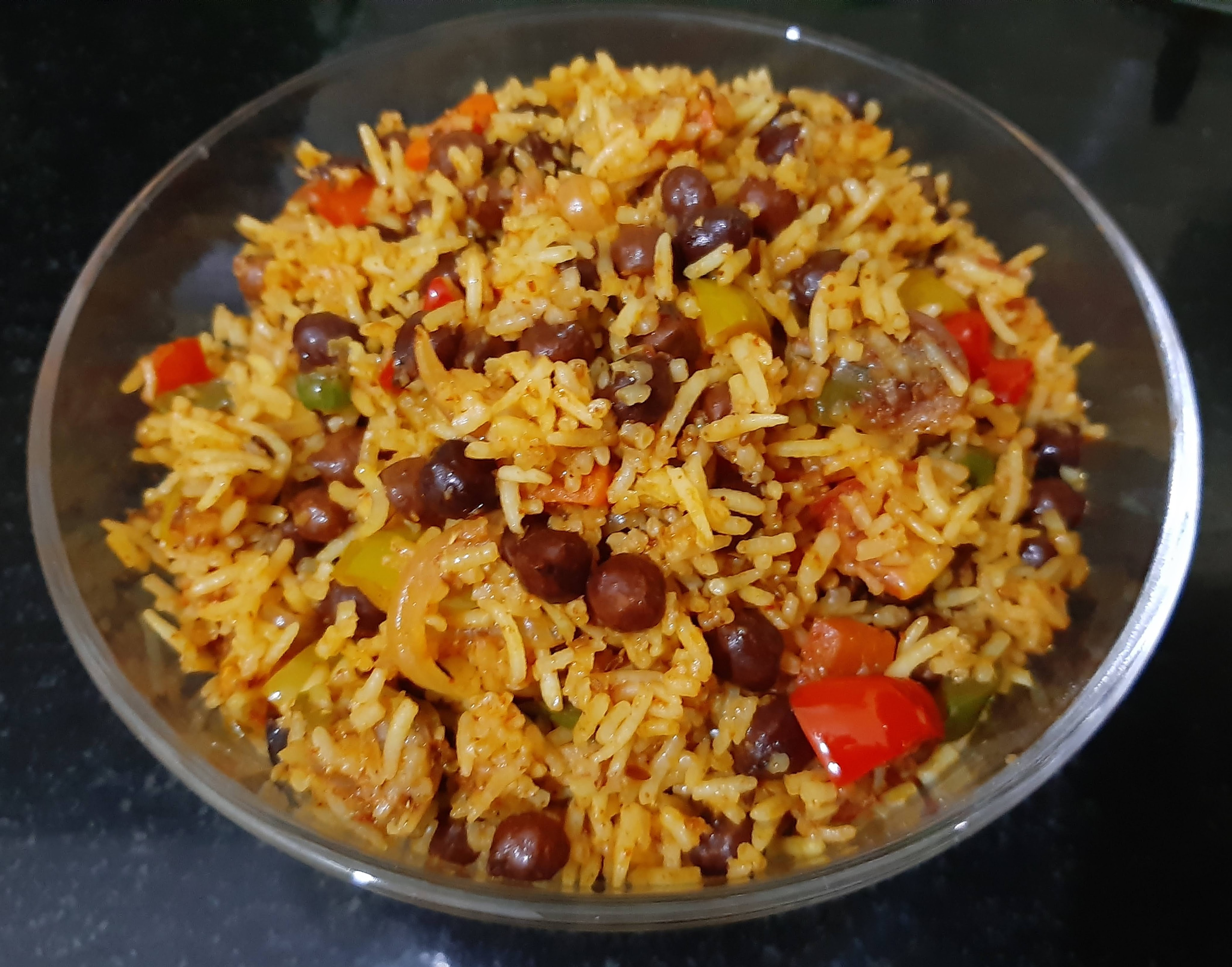 Black chana rice