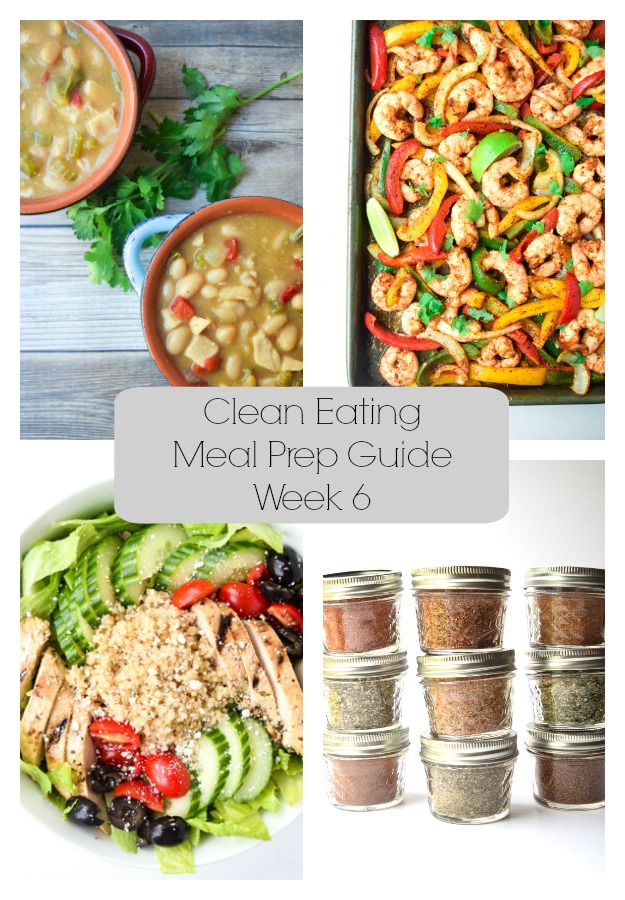 Clean Eating Meal Prep Guide (Week 6)- Weekly Meal Prep tips featuring clean, whole food recipes. Always simple and always family friendly!| tastythin.com