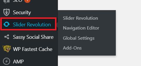 importing slider revolution export file