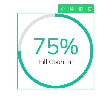 fill counter element in Thrive Architect