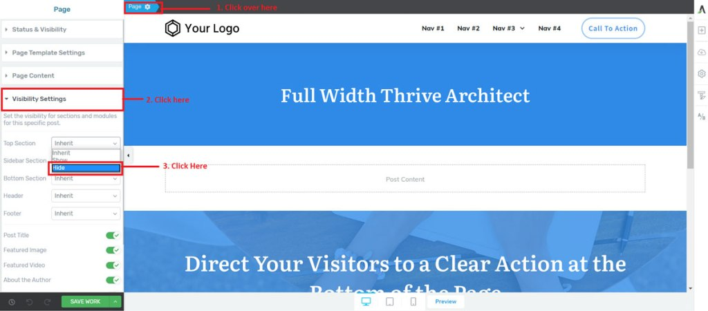 removing-the-top-section-in-thrive-architect