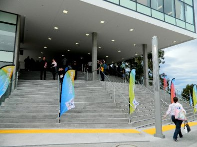 The new western entrance to Bellerive Oval