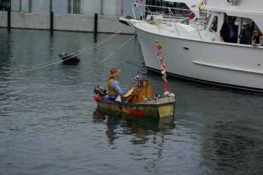 musician in a boat