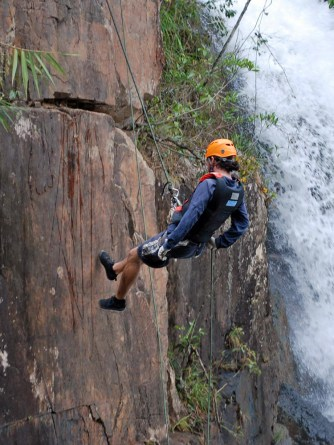 First abseil. Photo courtesy of Highland Sports Travel.