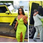 Kanye West Surprises Kim Kardashian With-Neon-green-SUV