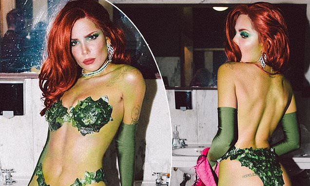 Singer Halsey Gets Hearts Racing in Poison Ivy Costume During Her VIP Halloween Part