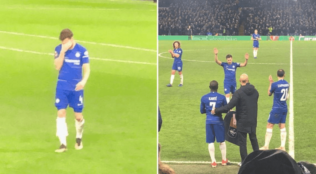 Cesc Fabregas Leaves The Pitch In Tears As He Says Goodbye To Chelsea Fans