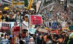 Thousands protest in Hong Kong over extradition law