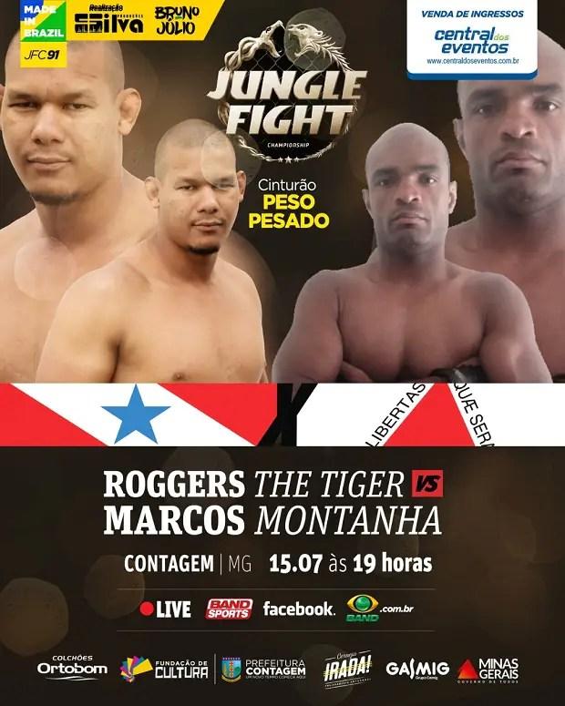 Jungle Fight 91 marca a disputa de cinturão peso-pesado da organização (Foto: Divulgação)