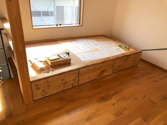 Tatami space made by DIY 2