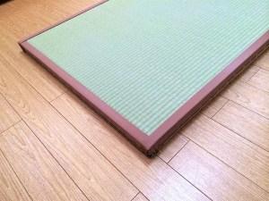 四方に畳縁を付けた畳の製作