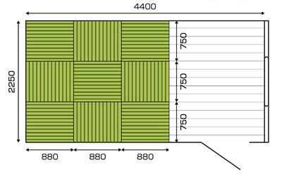 畳のサイズオーダーレイアウト例