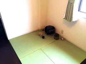 フローリングの一部を茶室スペースに。畳を敷いて簡単リフォーム