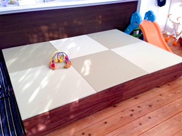 セキスイ美草目積リーフグリーンの作った小上がりの畳