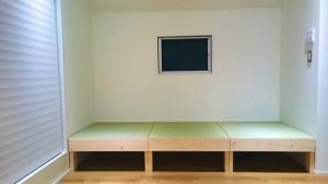 DIYで作った小上がりに敷く畳はサイズオーダーでピッタリに