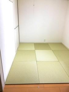 子供部屋だった部屋を改装して、離れて暮らす家族が帰省時に使用する和室に