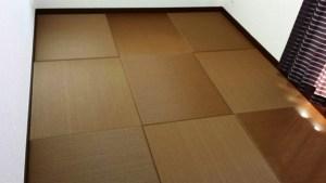 濃いブラウンのフローリングからブラウンの畳にプチリフォーム