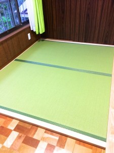 【畳縁付き置き畳】フローリングの部屋にDIYで畳コーナーの設置。畳の巾は製作可能な最大サイズ1000mm【お客様事例】