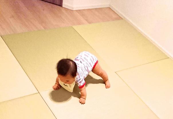 赤ちゃんのために畳の部屋へ