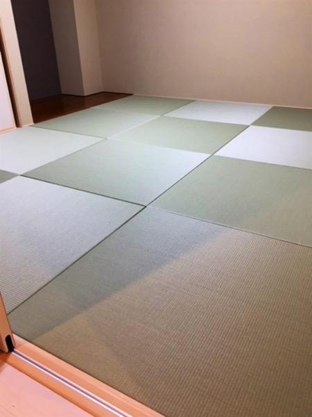 置き畳も部屋全面に敷く