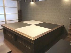 DIYだからできる畳で魅せるオリジナルな小上がり