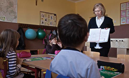 На уроке в Белостоке. Мария Александрович-Букин (Maria Aleksandrowicz-Bukin), возглавляющая местную мусульманскую религиозную ассоциацию, проводит урок об Исламе