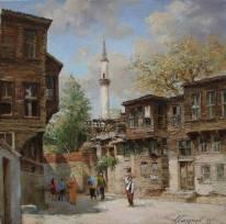 А.Галимов. Улочка старого Стамбула в районе Фатих