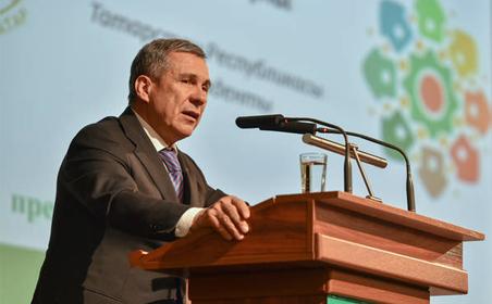 Рустам Минниханов принял участие в IV Всероссийском сходе предпринимателей татарских сел