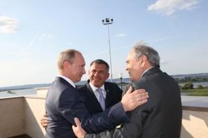 4 Путин Минниханов Шаймиев В Болгаре август 2012