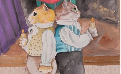 Конкурс детского рисунка «Легенды и мифы о казанских котах» стартовал в Санкт-Петербурге