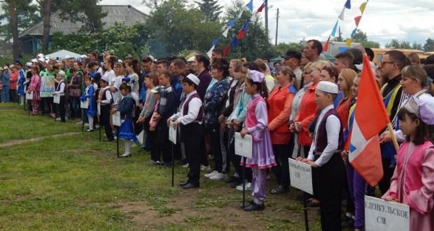 Үләнкүл авылында 42-нче Большеречье район спорт бәйрәме белән бергә авыл Сабантуе үтте