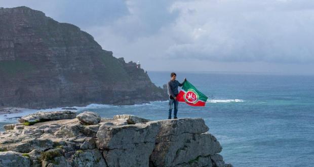 Tatarstan flag was first hoisted on Cape of Good Hope