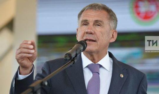 Минниханов поблагодарил татарстанцев, внесших вклад в становление республики