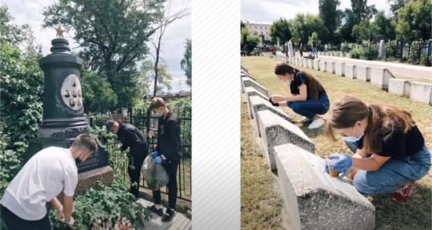 На мемориальном кладбище Казани восстановили памятник участникам войны
