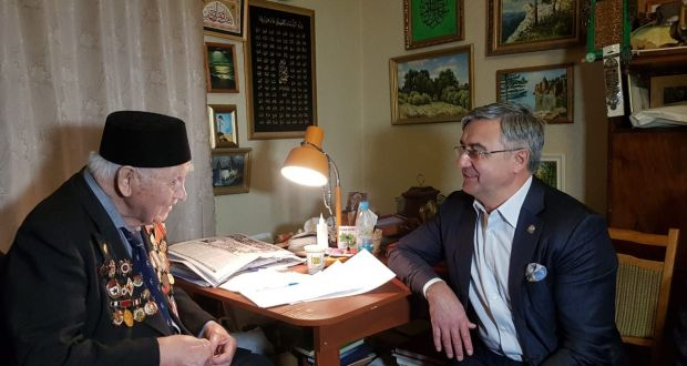 Ветеран ВОВ Асхат Мингазетдинов выражает благодарность председателю Нацсовета