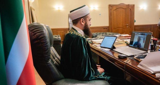 """Муфтий на Международной онлайн-конференции: """"Имамы играют ключевую роль в сохранении народного единства и духовного согласия"""""""