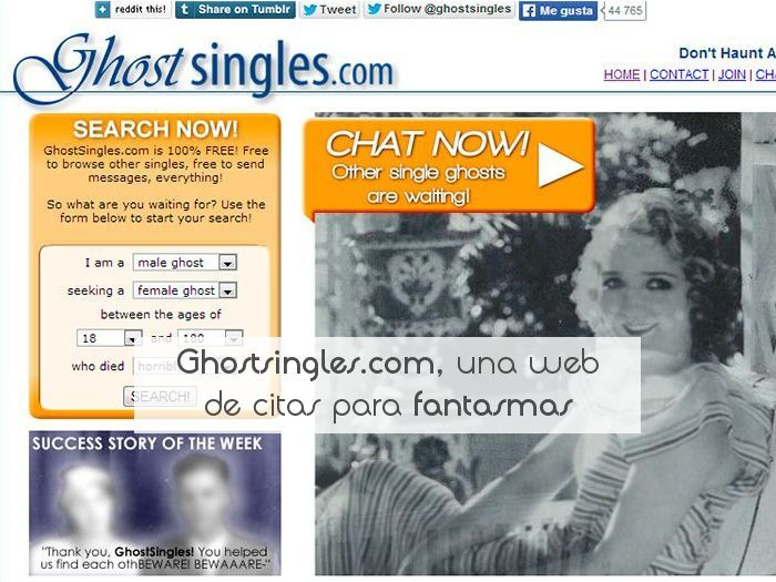 Ghostsingles.com, una web de citas para fantasmas