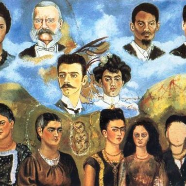 "Cuadro inacabado ""Mi familia"" de Frida Kahlo 1950 -1954"