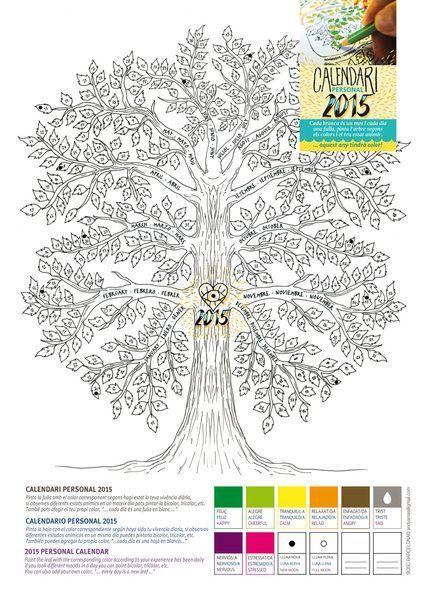 árbol calendario personal 2015