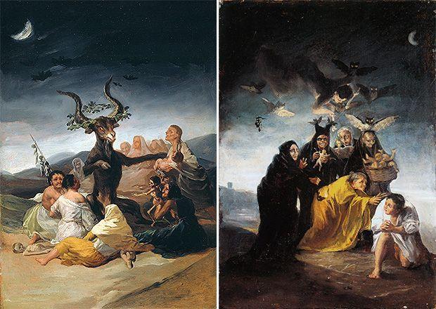 Pinturas de Goya protagonizadas por brujas