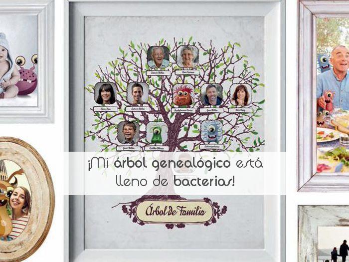 ¡Mi árbol genealógico está lleno de bacterias!