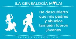 La genealogía mola. He descubierto que mis padres y abuelos también fueron jóvenes