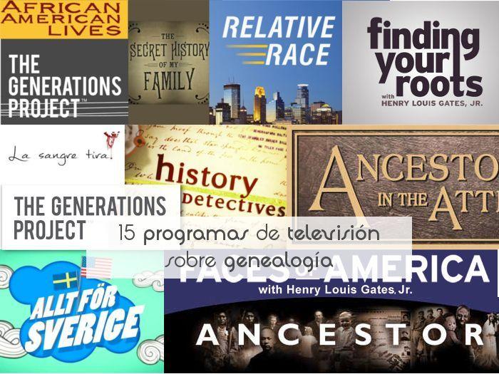 15 programas de televisión sobre genealogía