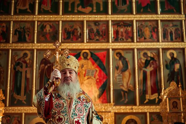 В Неделю Торжества Православия митрополит Феофан совершил Литургию в Благовещенском соборе Казани