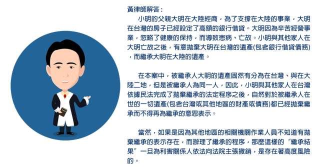 台灣辦的拋棄繼承在大陸有用嗎
