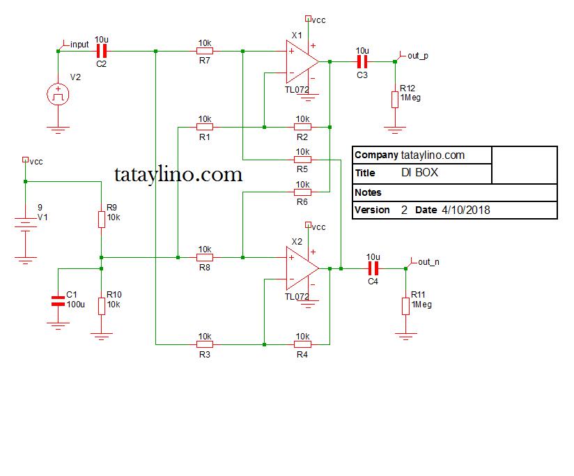 9V DI Box Design