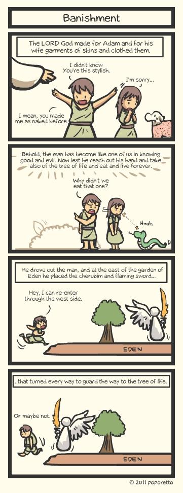 Genesis Bible Comic – Banishment