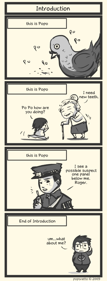 Comic strip poporetto introduction this and that comic